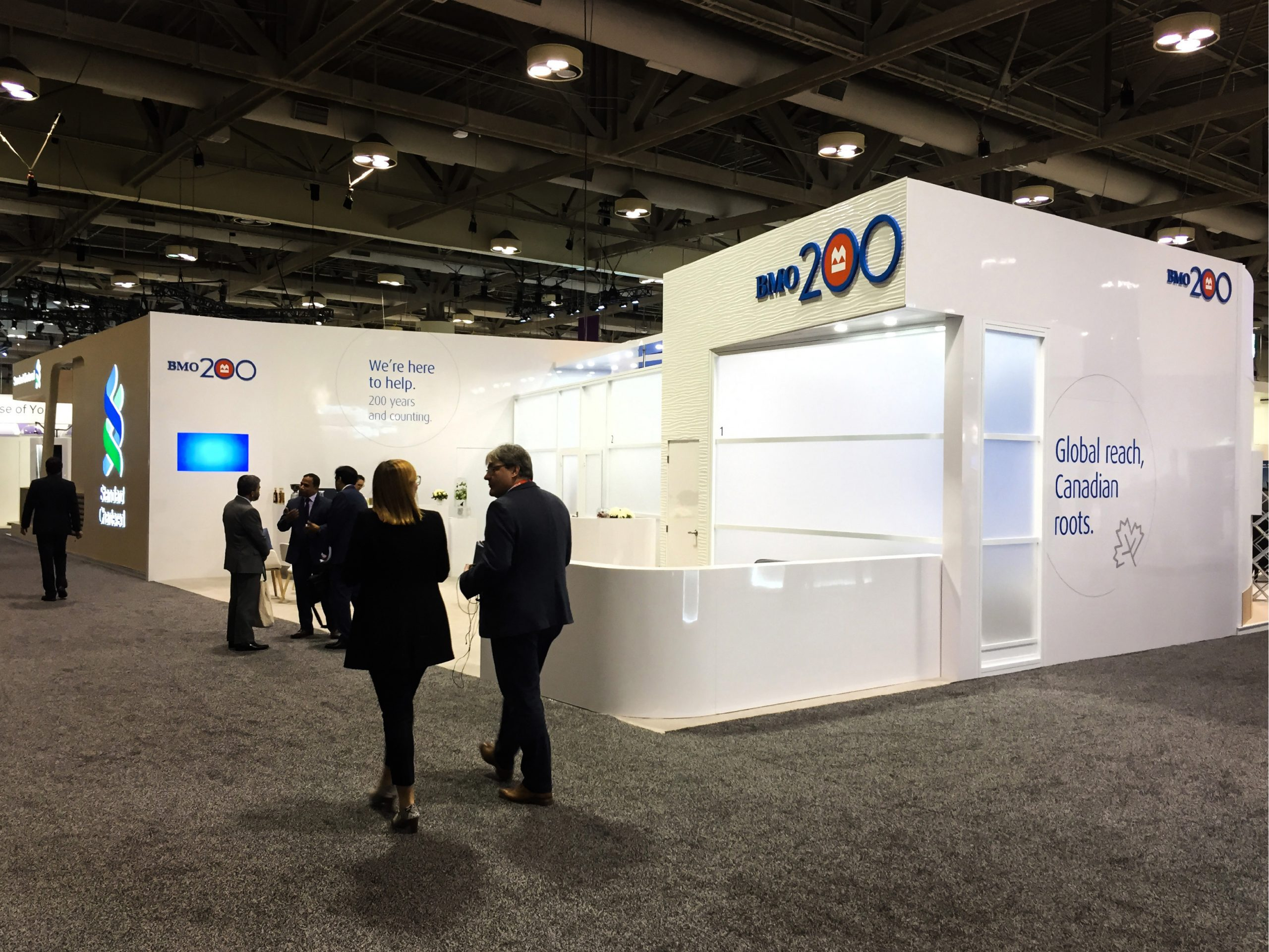 This is a view of the Bank of Montreal activation for SIBOS