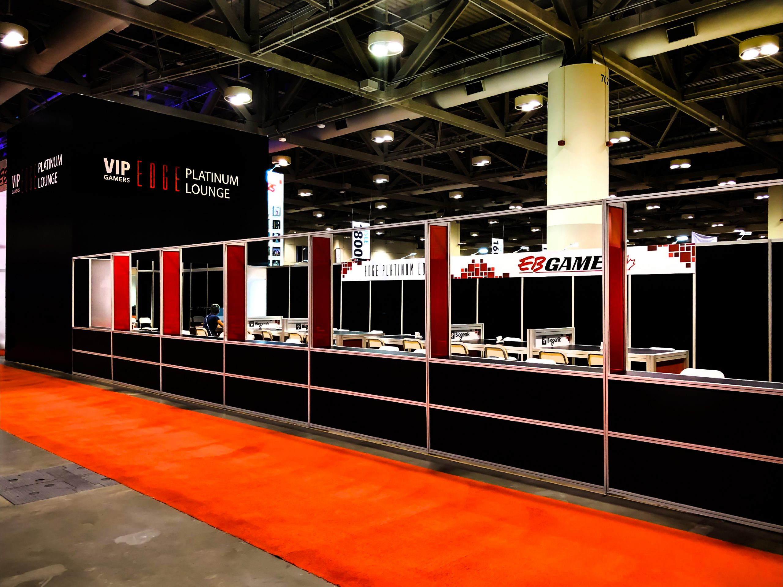 this is an image showing the EB Games VIP area and wall for Fan Expo