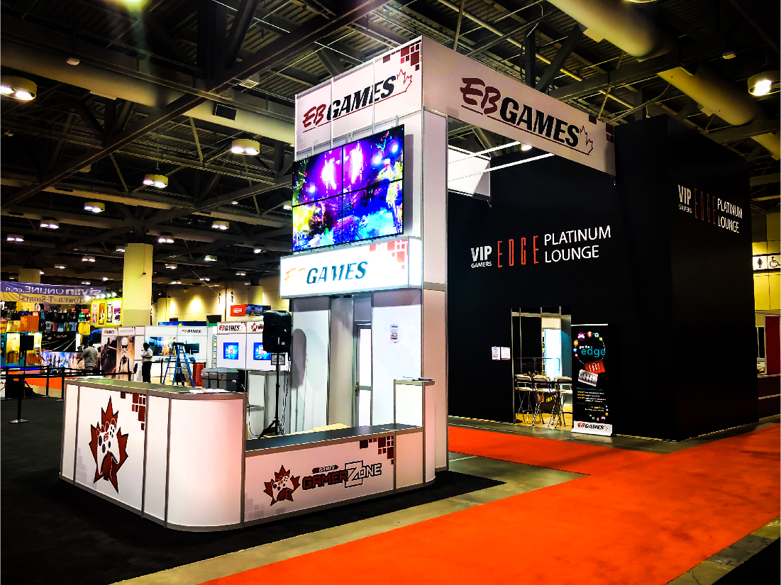 This is an image of the VIP area and arch with counter at EB Games
