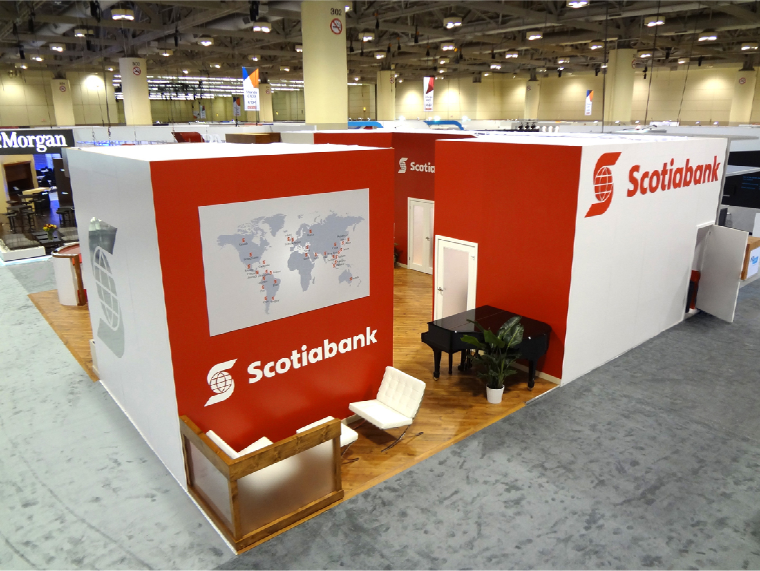 This is the back of the Scotiabank activation for Sibos