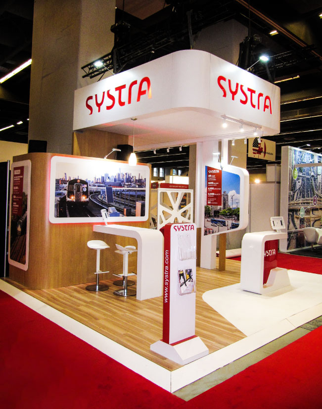 a corner view of the seating area and meeting area for the Systra activation